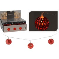 10 LED Moroccan Red Ball Light