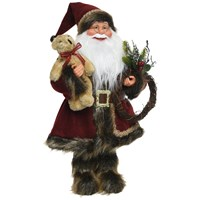 Classic Santa with Bear - 60cm