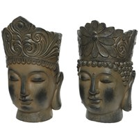 Buddha Head Planter 2 Assorted - 49cm