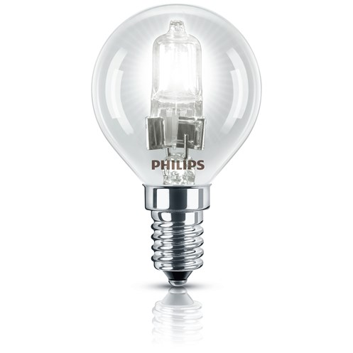 Philips EcoClassic E14 Halogen Lustre Light Bulb Blister Pack - 28W