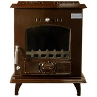 Blacksmith Bellows 8kW Non Boiler Stove - Brown Enamel