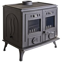 Blacksmith Furnace 30kW Boiler Stove - Matt Black