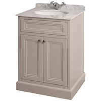 Bathroom Studio  Charlotte 60cm Stone White/White Marble Unit & Basin