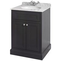 Bathroom Studio  Charlotte 60cm Anthracite/White Marble Unit & Basin