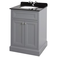 Bathroom Studio  Charlotte 60cm Slate Grey/Black Marble Unit & Basin