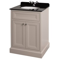 Bathroom Studio  Charlotte 60cm Stone White/Black Marble Unit & Basin