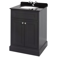 Bathroom Studio  Charlotte 60cm Anthracite/Black Marble Unit & Basin